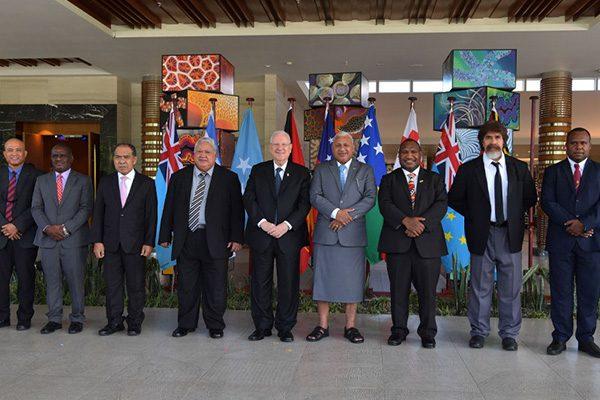 President Rivlin at the summit meeting in Fiji