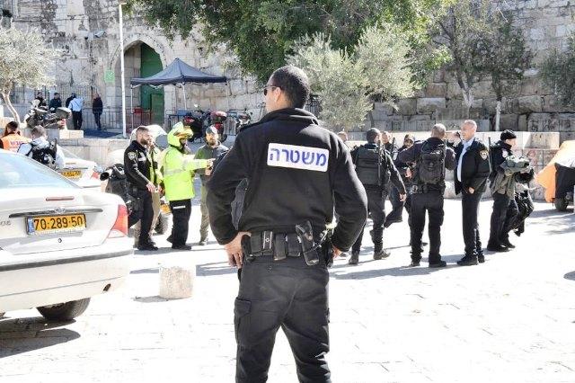 זירת האירוע (צילום: דוברות המשטרה)