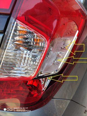 שברו פנסי הרכב ובעטו בדלות ובכנפים (צילום באדיבות המצלם)