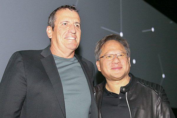 eyal waldman and jensen Huang melanox