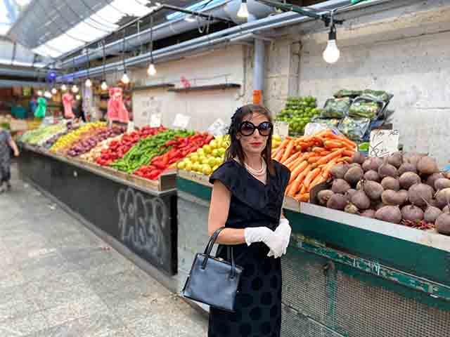 ג'קי בשוק יצירתו של אורי לנינסקי (צילום:אפרת מזור)