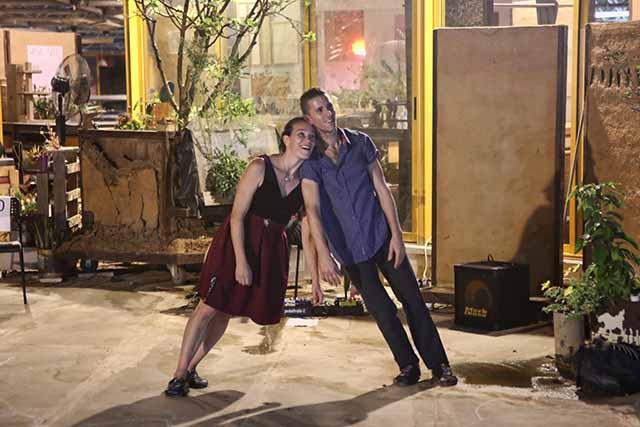 המופע ׳הליכה לילית׳ (צילום:דן בר דוב)