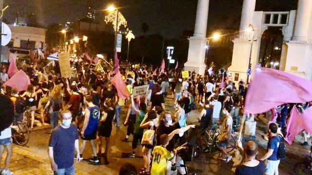 בסמוך לשתיים לפנות בוקר הסתיימה הפגנת המחאה בתל אביב