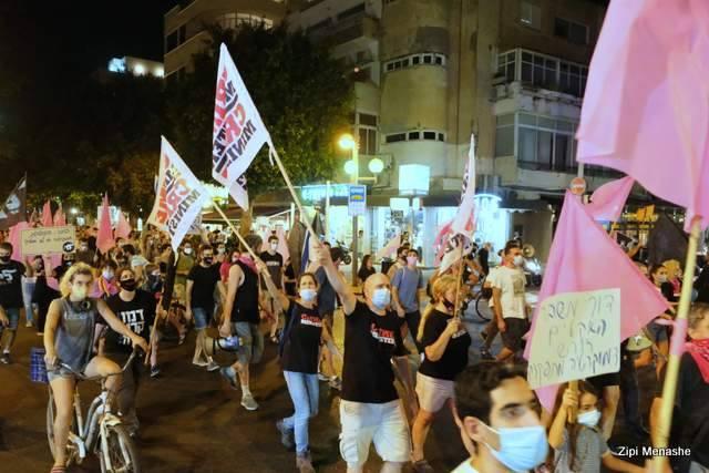 המפגינים ברחובות תל אביב (צילום: ציפי מנשה)