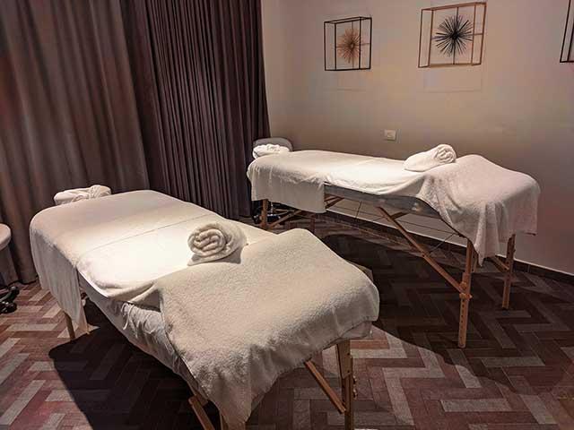 חדרי טיפולים במרכז הספא שבמלון (צילום:דן בר דוב)