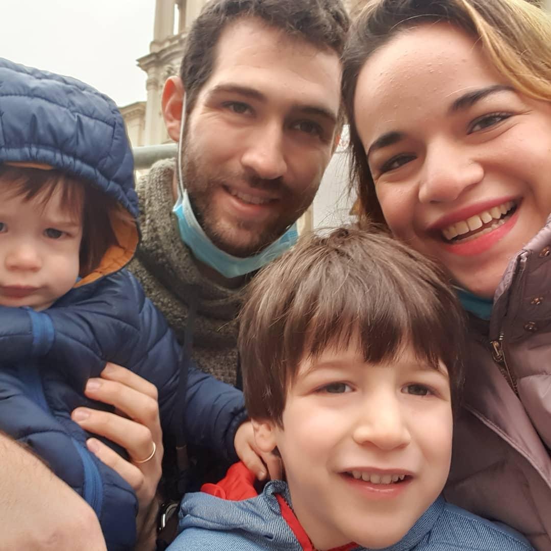 Amit Tal Biran and children